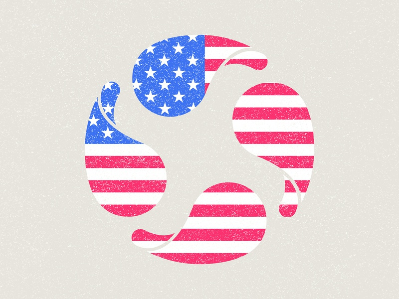 Thankful 🇺🇸 texture studio agency design blue white red memorial day america usa