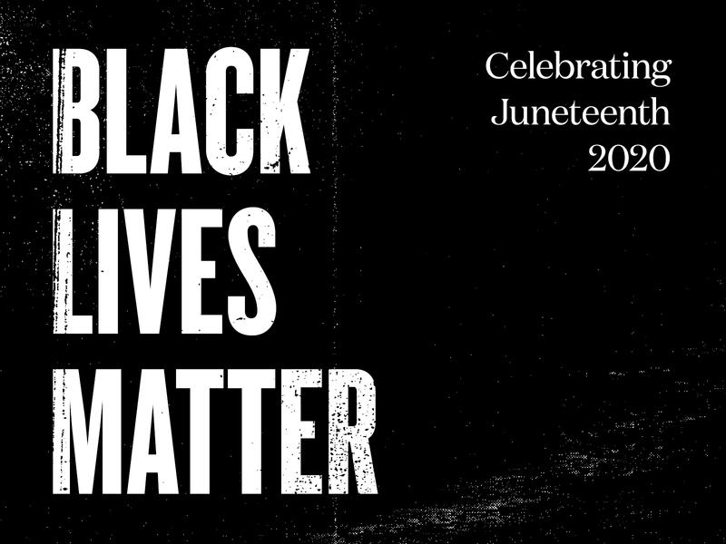 Black Lives Matter juneteenth studio agency digital type texture black black lives matter