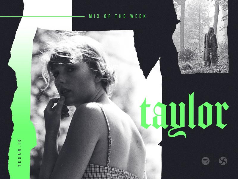 Taylor black  white neon torn paper studio agency playlist spotify music taylor swift
