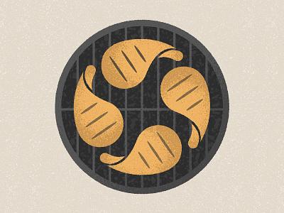 BBQ chicken meat bbq holiday labor day tegan studio agency branding vector art design illustration