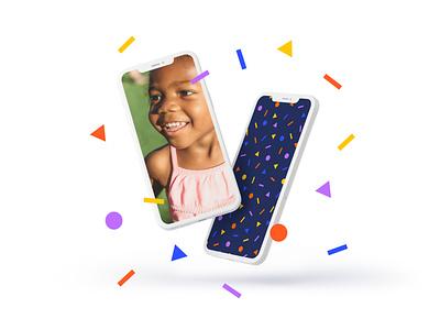 Let's Party 🥳 non-profit studio agency colorful desktop design fun joy mobile website ui  ux confetti birthday party