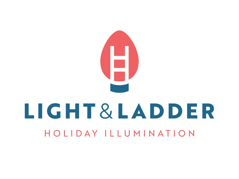 Light & Ladder ampersand brand logo christmas green red ladder light