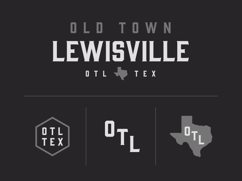 Texas Forever serif type neighborhood state grey white black texas branding