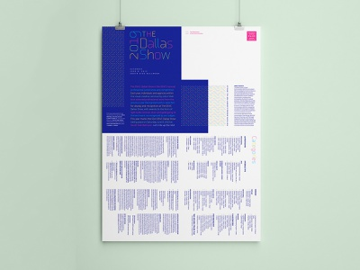 DSVC 2019 Dallas Show Poster logotype brand mailer type light bulb layout folded poster neon dots lite-brite bright light