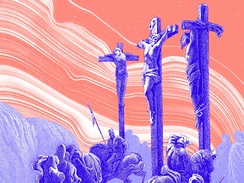 Holy Week Illustrations gospel bible illustration flow abstract marble orange purple blue etching holy week church