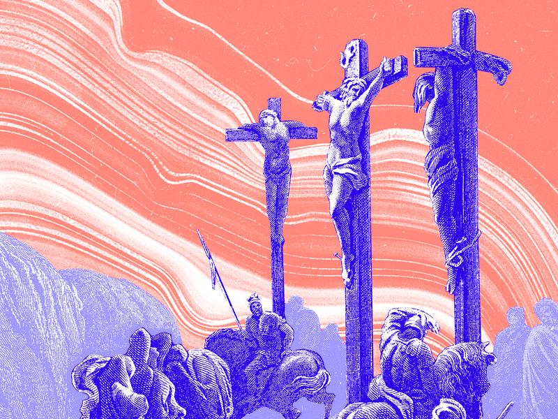 Holy Week Illustrations gospel bible illustration flow abstract marble orange purple blue etching holy week church