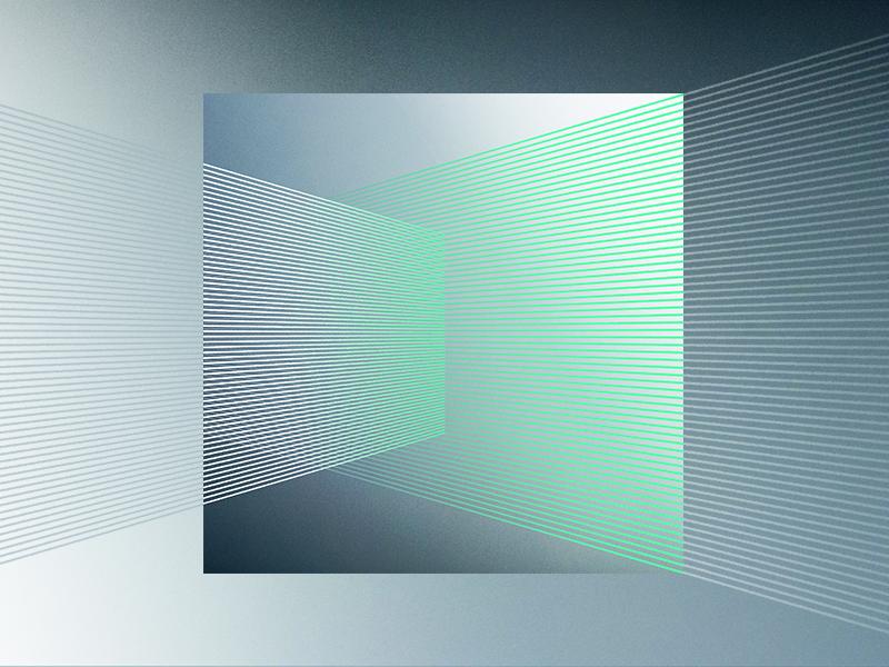In His Presence art illustration minimal lines perspective gradient music album black green vector design texture church