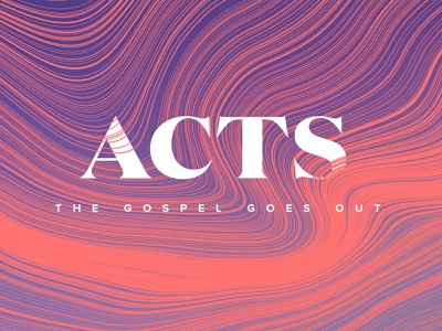 Acts layout type direction waves flow cover spread magazine study acts bible design book branding illustration texture art red blue church