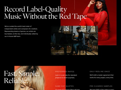 Musicbed Concept ux design ui black red