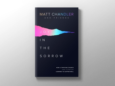 Joy in the Sorrow branding website sorrow joy gradient foil stamp holographic black cover design cover art cover book