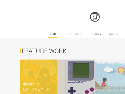 My Website Redesign website flat portfolio