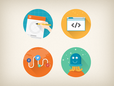 Service Icon flat icon illustration