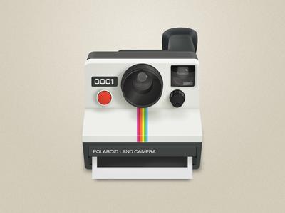 Polaroid illust draft vector