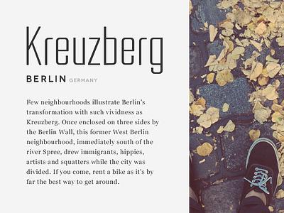 Kreuzberg type exploration type typeface font berlin