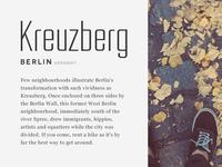 Kreuzberg type exploration