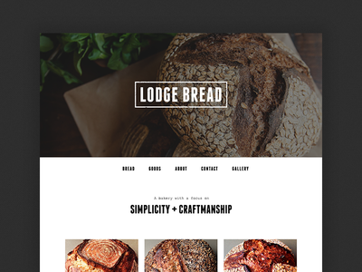 Lodge Bread website web single page one pager bread food culinary