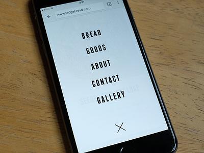 Mobile web navigation mobile nav navigation web ui modal clean bread