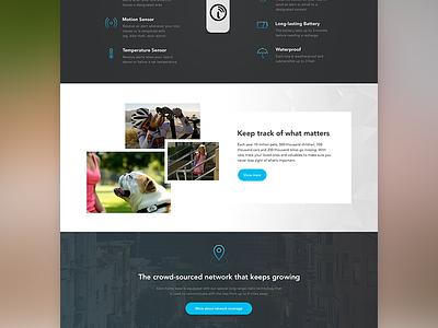 iota home page pet blue visual design ui marketing web home device gps tracker website iota