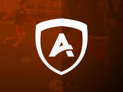 The Athlete Lounge logo logo insignia orange sport athlete soccer football field