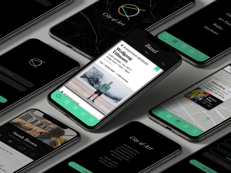 Artguide App app design app art artguide mockup branding product design user interface ux  ui