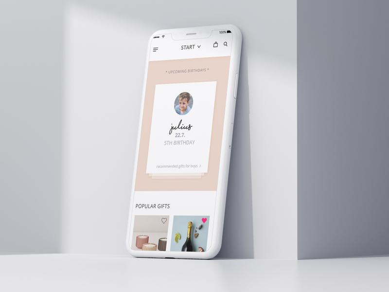 gifting app concept product design online-shop gifting branding design app design user interface uxui