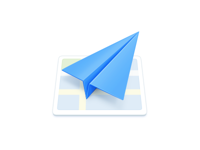 Amap plane smartisan map icon blue