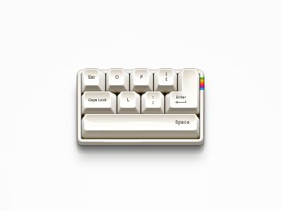 Mini Keyboard apple photoshop keyboard retro