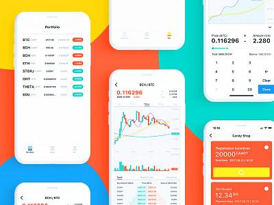 BIG App UI ui design eth bch btc trade ios big interface color bitcoin