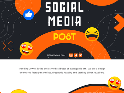 Social Media Post Design marketing branding typography business photography design agency clean creative corporate