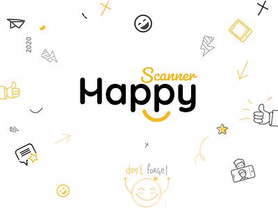 Happy Scanner logo Design ux photography logo branding design