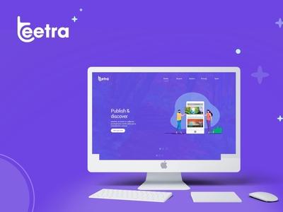 Teetra Website design