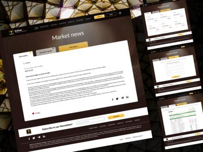 Inner pages for stock market Bullteks