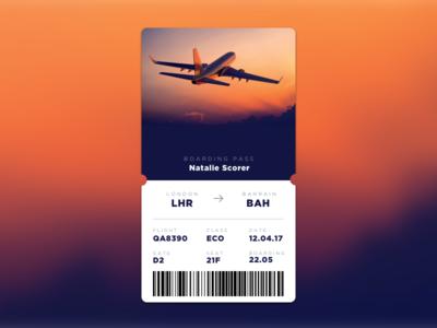 DailyUI#024 - Boarding Pass gotham dailyui ticket ui boarding pass design dailyui023