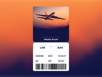 DailyUI#024 - Boarding Pass