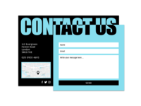 DailyUI#028 - Contact Us