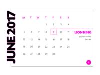 DailyUI#038 - Calendar
