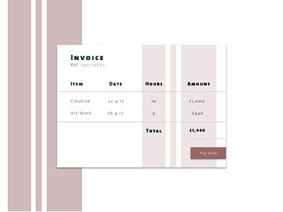 DailyUI#046 - Invoice thesans dailyui ui invoice design dailyui046