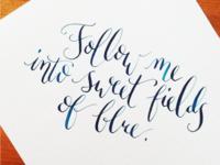 Sweet fields of blue 🎶
