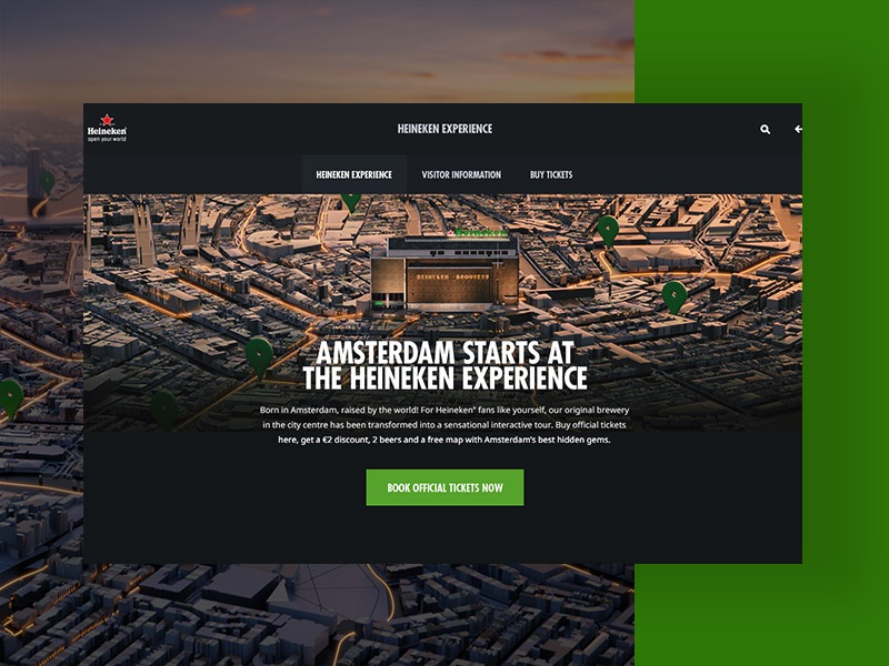 Heineken Experience Website design digital ui ux interface