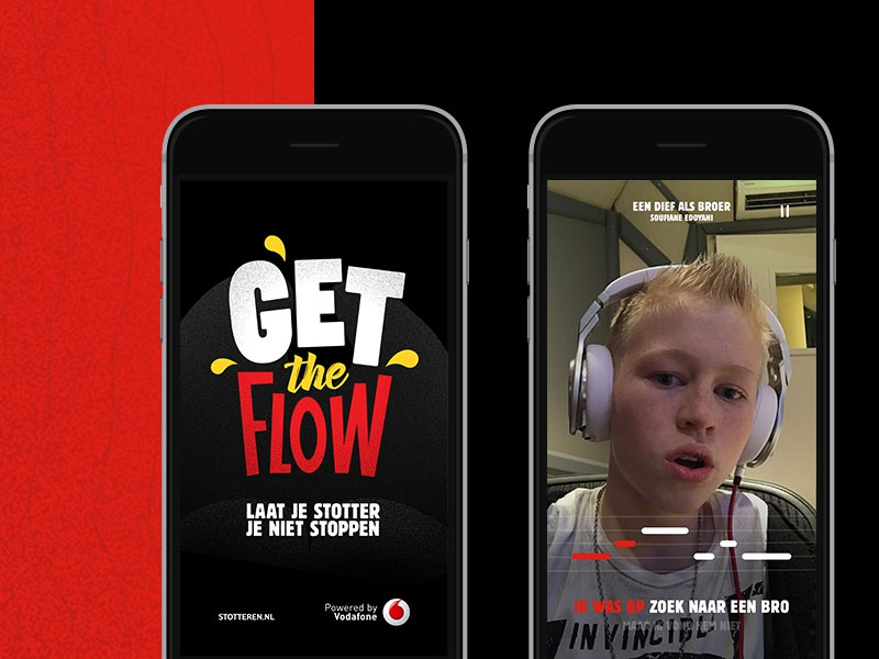 Get the Flow App with Vodafone design digital ui ux interface