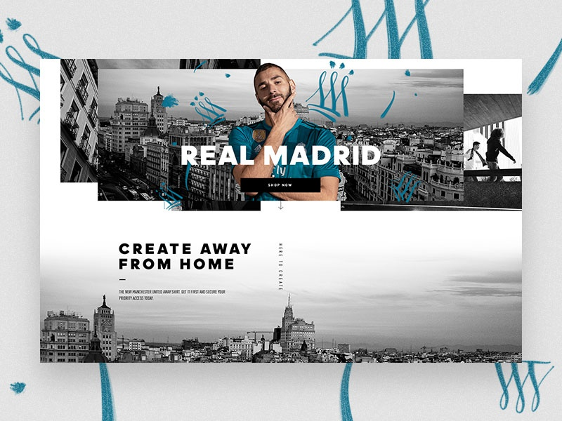Real Madrid Club Experience Page realmadrid design digital ui ux interface