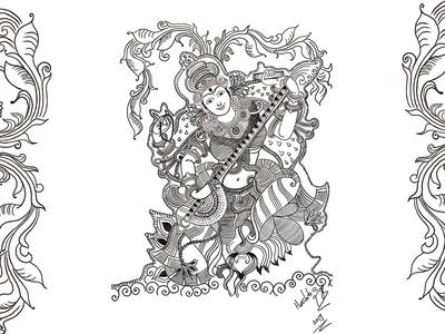 Indian Folk Illustration