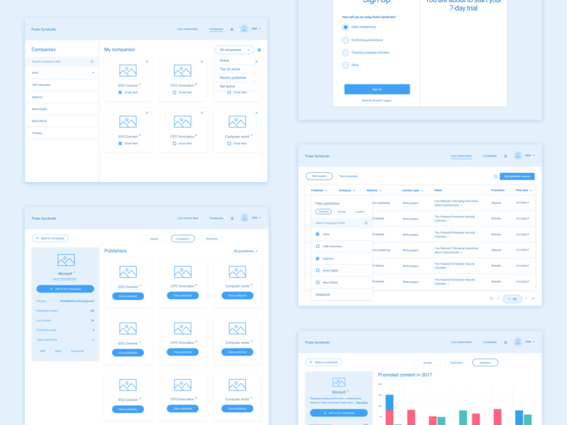 Desktop App Wireframes prototype desktop app desktop dashboad low-fidelity lo-fi wireframe wireframes app design dashboard clean user experience ux