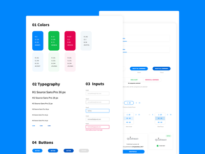 Desktop App Style Guide system style sheet interaction style guide user research desktop app app design clean ui user experience ux