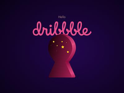 Hello Dribble illustration dribble hello