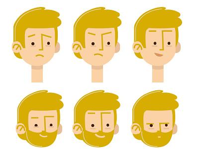 Character study flat  design concept cartoon 2dart 2d face character study character concept character creation character art designmatters vector flat illustration design francescatabasso character design character