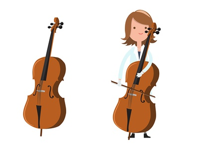 The cello player cello illustrator art motion art illustrator flat  design concept designmatters character study character creation character concept character art vector 2dart 2d illustration francescatabasso design flat character design character