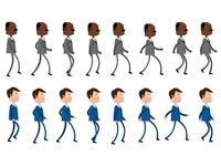 vector walking cicle