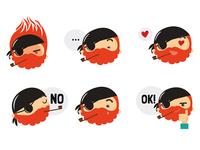 Be A Pirate sticker pack