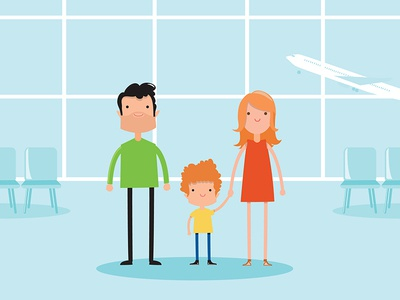 Motion graphic video art airport motion graphic motion graphic design motion art character creation character concept illustrator art vector illustrator illustration francescatabasso flat flat  design designmatters design character design character art character 2dart 2d